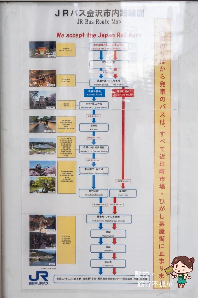 金澤JR免費公車路線